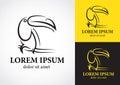 Toucan bird logo design