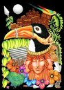Toucan Fantasy New World Artistic Background Royalty Free Stock Photography