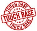 touch base red stamp Royalty Free Stock Photo