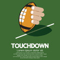 Touch down american football vector illustration Stock Image