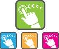 Touch screen icon vector symbol Stock Photos