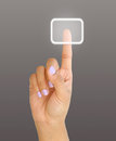 Touch screen woman hand a Royalty Free Stock Image