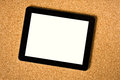 Touch tablet cork board Royalty Free Stock Photo