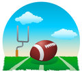 Touchdown illustration of a football ball on field Stock Photos
