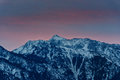 Touching the wasatch sunrise over lone peak national forest in spring above cottonwood heights utah usa Stock Images