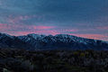 Touching the wasatch sunrise over mountains in utah usa taken from cottonwood heights Stock Images