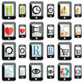 Touchscreen icons Royalty Free Stock Images