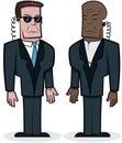 Tough Bodyguards Royalty Free Stock Photo