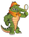 Tough gator mascot of ali for business identity or brand Stock Photo