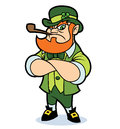 A tough looking leprechaun Royalty Free Stock Photo