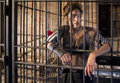 Tough Woman in Jail Stock Image