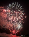 Toulon france fireworks var provence alpes cote d azur traditional at july th Royalty Free Stock Images
