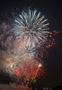 Toulon france fireworks var provence alpes cote d azur traditional at july th Stock Photos