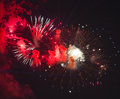 Toulon france fireworks var provence alpes cote d azur traditional at july th Stock Photography