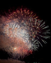 Toulon france fireworks var provence alpes cote d azur traditional at july th Stock Images
