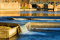Toulouse (France) river Garonne from the Bazacle Stock Photography
