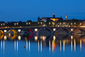 Toulouse at a summer night cityscape of and pont neuf Royalty Free Stock Photos