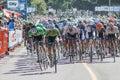 Tour of Alberta bike race, Sherwood Park, Alberta Royalty Free Stock Photo