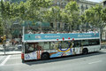 Tour bus barcelona a double decker tours city Stock Image