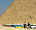 Tour buses bringing tourists to Giza. Royalty Free Stock Photo