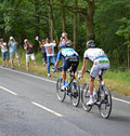 Tour de france from cambridge to london photography of participatns as they enter epping essex on the th july Royalty Free Stock Image