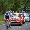 Tour de france jan barta from cambridge to london photography of as he enters epping essex on the th july Stock Photos