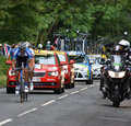 Tour de france jan barta from cambridge to london photography of as he enters epping essex on the th july Stock Images