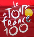 Tour de france logo the great entered into its year in what a special occasion Royalty Free Stock Image