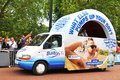 Tour de france in london uk – july sponsors' caravan arrive at the mall which hosted the third stage of the Stock Photography