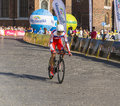 Tour de pologne each year in poland is a bicycle race the end of this race is always in krakow meta on the main market today is Royalty Free Stock Photography