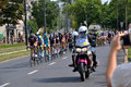 Tour de pologne road bicycle race warsaw of poland first stage of the in on nd august picture of a peleton Stock Image