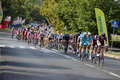 Tour de pologne road bicycle race warsaw of poland first stage of the in on nd august picture of a peleton Royalty Free Stock Images