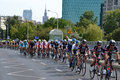 Tour de pologne road bicycle race warsaw of poland first stage of the in on nd august picture of a peleton taken next to gdański Royalty Free Stock Photo