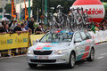 Tour de Pologne team vehicle Royalty Free Stock Photography