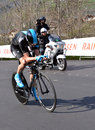 Tour de romandie verbier switzerland april champion chris froome of team sky on stage of the april in verbier switzerland Stock Photos