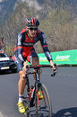 Tour de romandie verbier switzerland april marcus burghardt of team bmc on stage of the april in verbier switzerland Royalty Free Stock Image