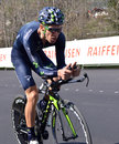 Tour de romandie verbier switzerland april rui costa of team movistar on rd place in the april in verbier switzerland Royalty Free Stock Image