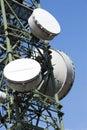 Tour de télécommunications de groupe Images libres de droits