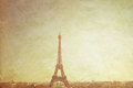 Tour eiffel de vintage Photos stock