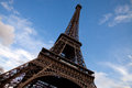 Tour eiffel in paris with blue sky and clouds Stock Photography