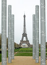 Tour eiffel in paris columns front of france Stock Photography