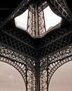 Tour eiffel in paris sepia colored france Royalty Free Stock Photo