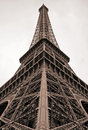 Tour eiffel in paris sepia colored france Royalty Free Stock Photography