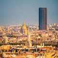 Tour Montparnasse and Les Invalides, Paris Royalty Free Stock Photography