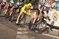 The tour stage nice july nd de france radioshack leopard team during nice nice km bakelants jan in yellow Stock Photos