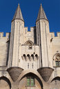 Tourelles du palais des papes turrets of the papal palace avignon france Royalty Free Stock Image