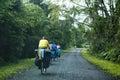 Touring bicycle Royalty Free Stock Photo