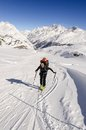 Touring skier in swiss alps alpine Stock Photography