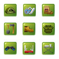 Tourism equipment icon illustration of icons Royalty Free Stock Photography