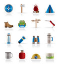 Tourism and Holiday icons Stock Photo